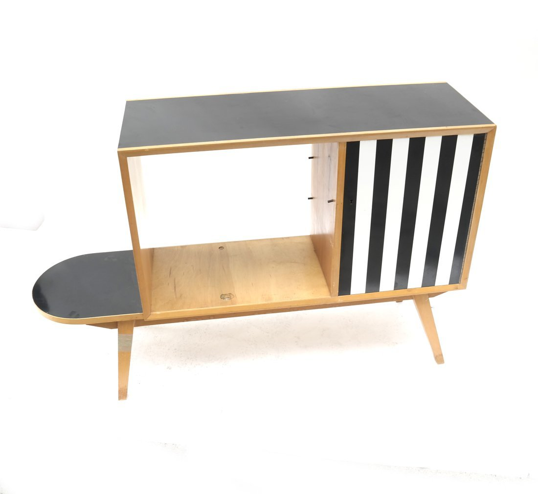 Modern Two-Tone Cabinet
