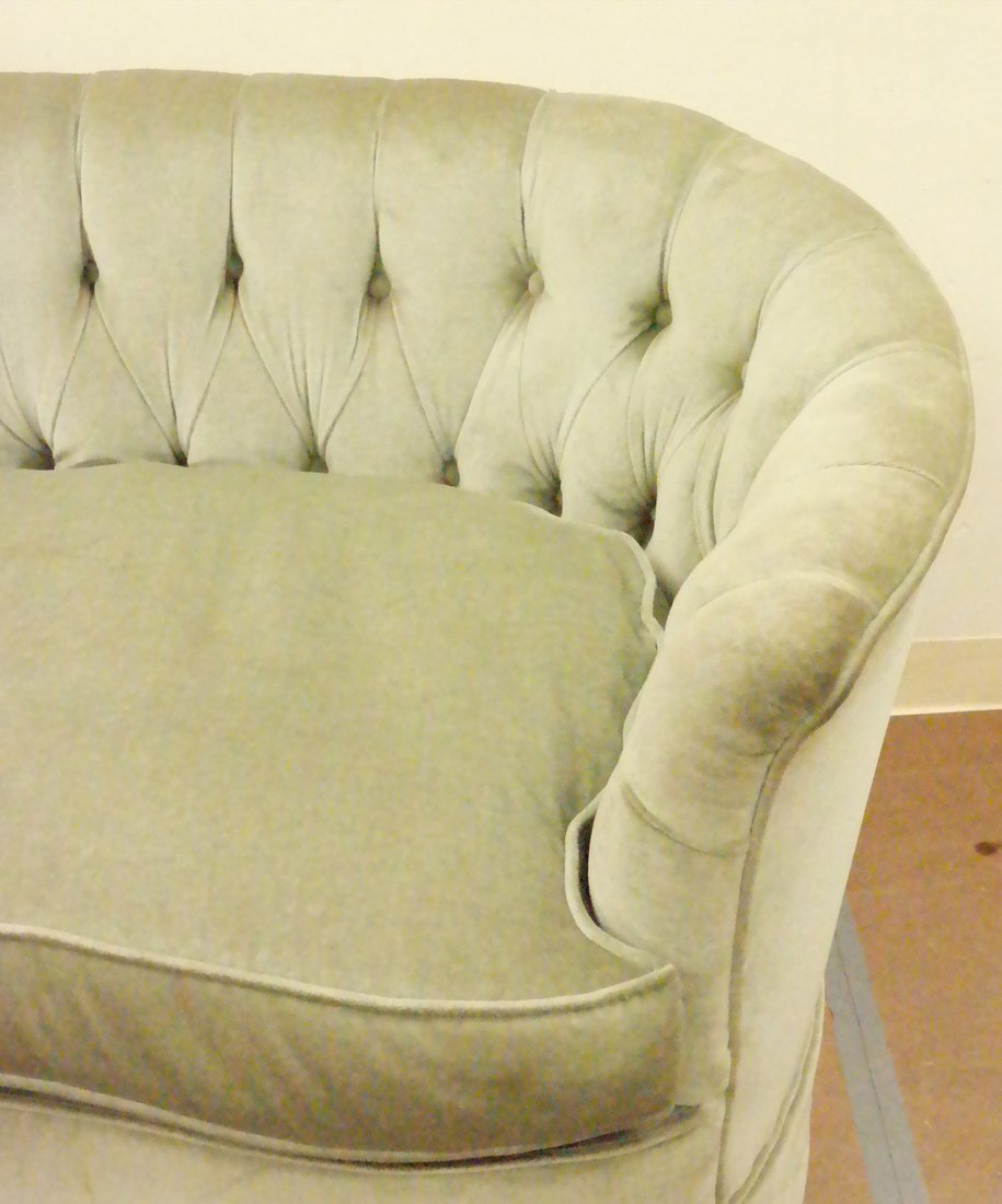 Green Tufted Loveseat - 2