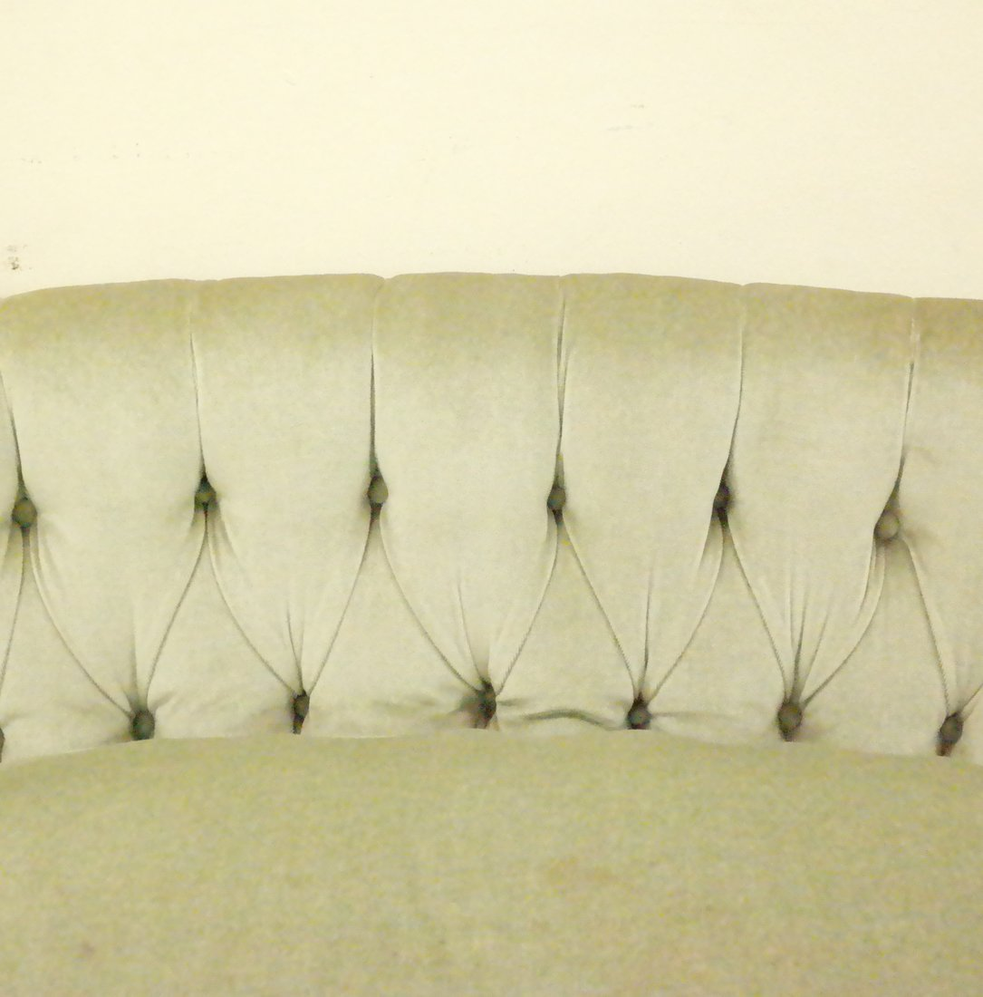 Green Tufted Loveseat - 3
