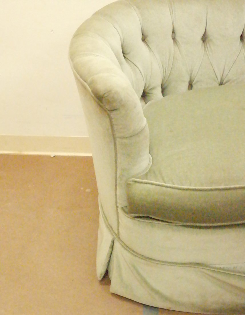 Green Tufted Loveseat - 4