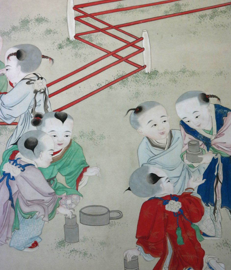 Chinese Scroll Watercolor - The Family - 3