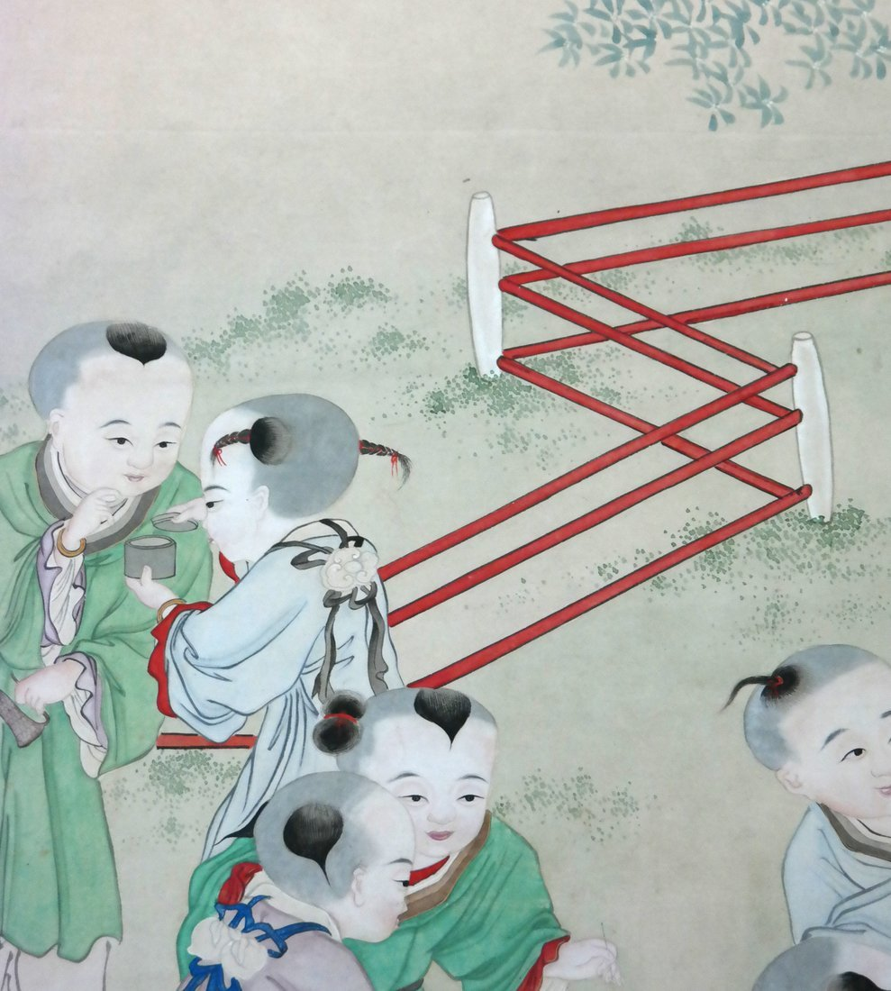 Chinese Scroll Watercolor - The Family - 5