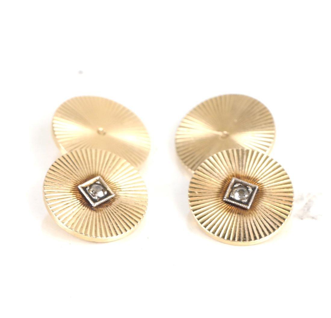 14k Diamond Cufflinks