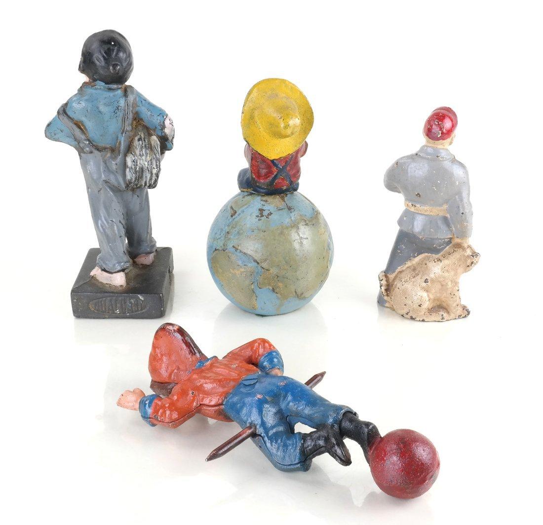 Four Painted Cast Iron Figures - 3