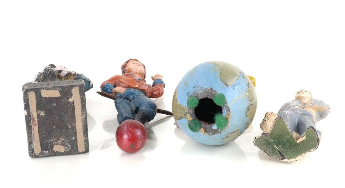Four Painted Cast Iron Figures - 5