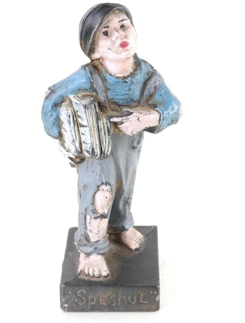 Four Painted Cast Iron Figures - 6