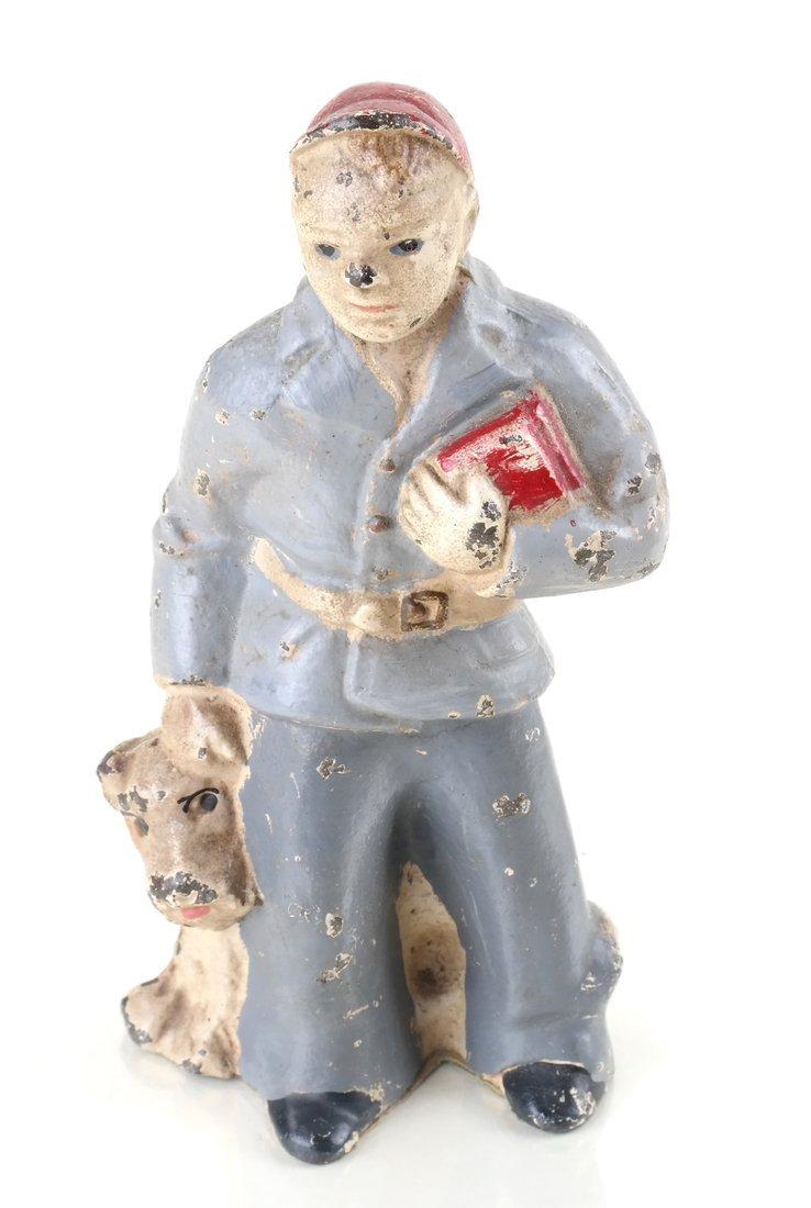 Four Painted Cast Iron Figures - 9