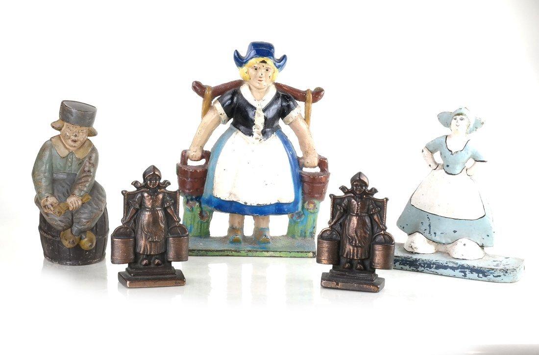 Five Cast Iron Dutch Figures