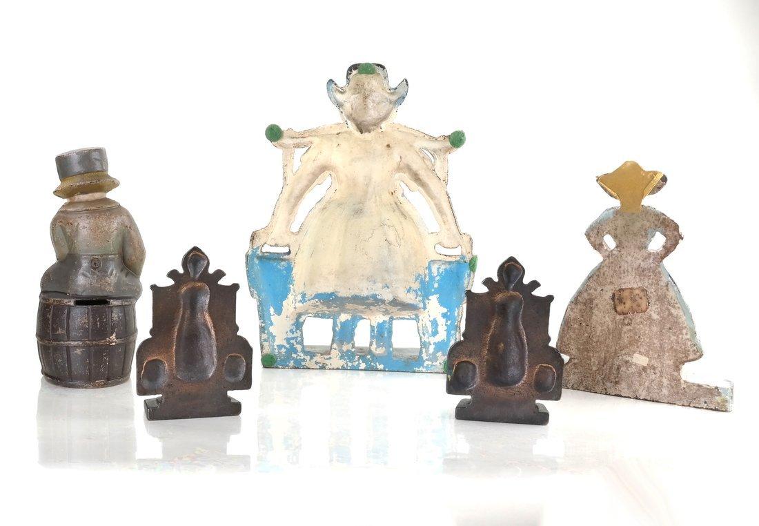 Five Cast Iron Dutch Figures - 3