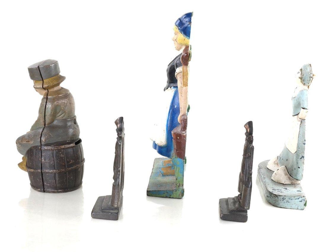 Five Cast Iron Dutch Figures - 4