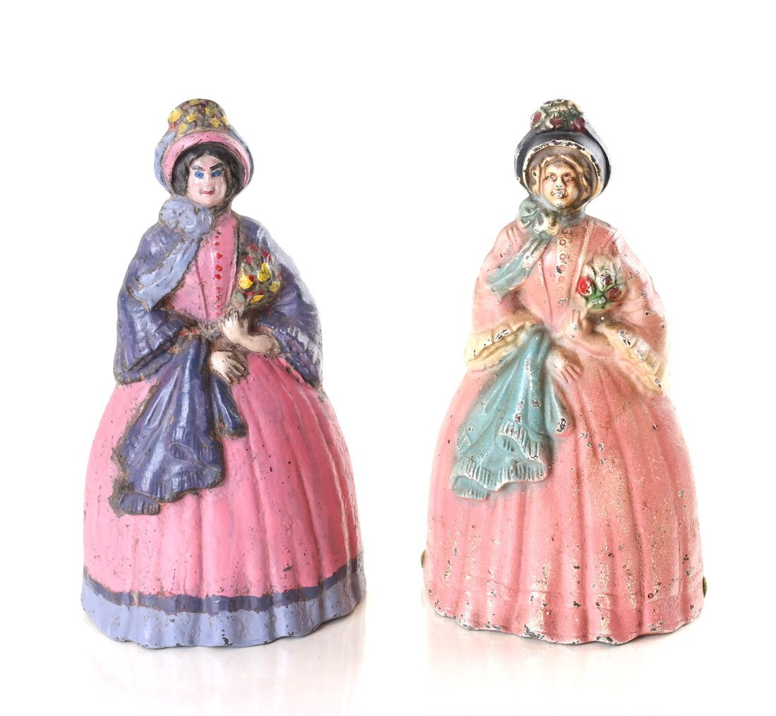 Five Painted Cast Iron Ladies - 10