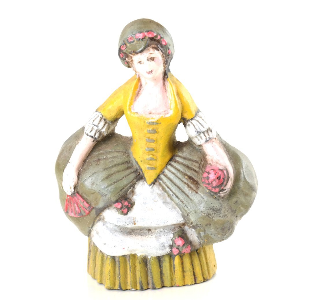 Five Painted Cast Iron Ladies - 6