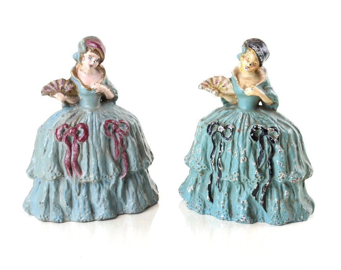 Five Painted Cast Iron Ladies - 8