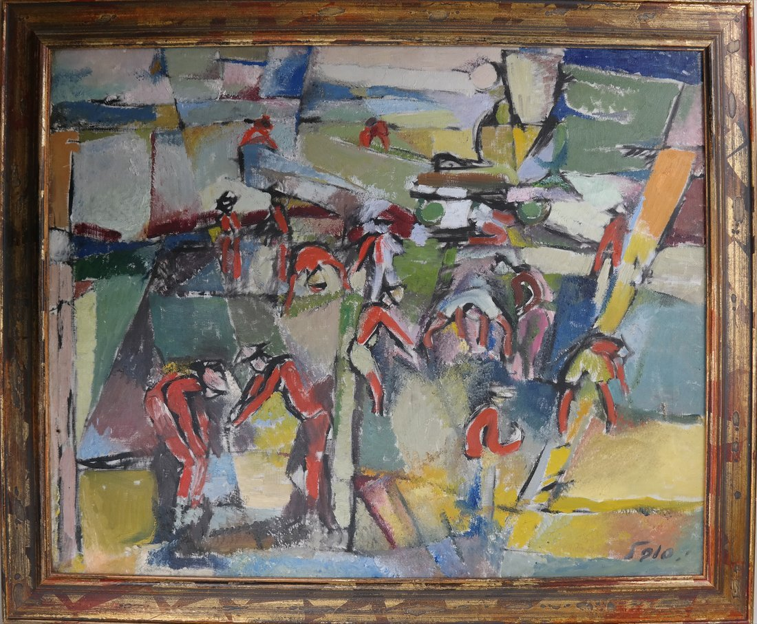 Sobel Abstract, Oil on Canvas - Figures - 2