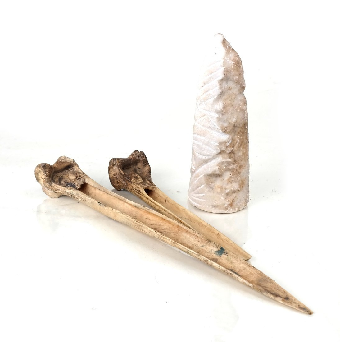 Two Bones and A Stone Sculpture