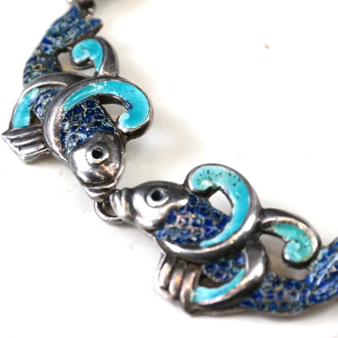 Mexican Sterling Fish Necklace - 2