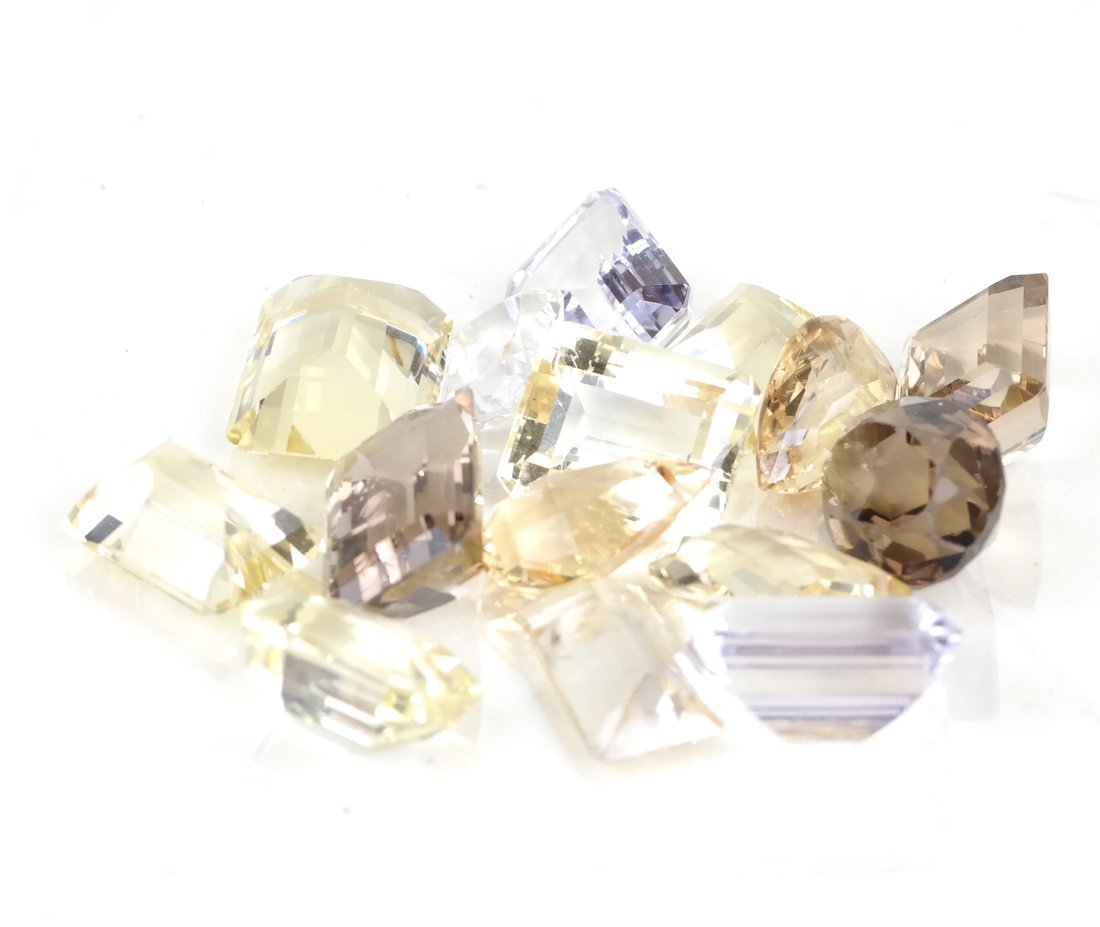 Bag of Assorted Smoky and Yellow Topaz - 2