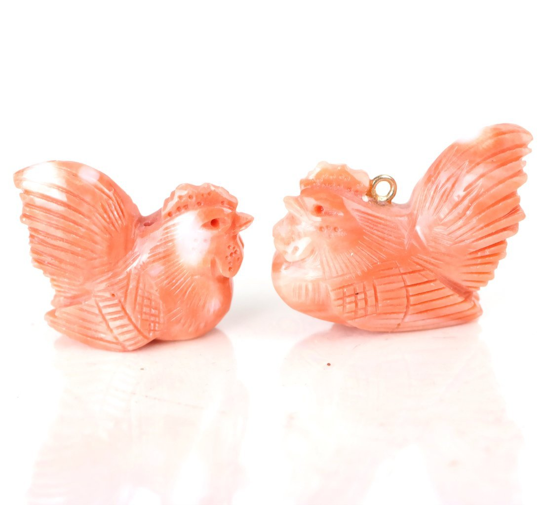 14 Small Coral Carvings - 5