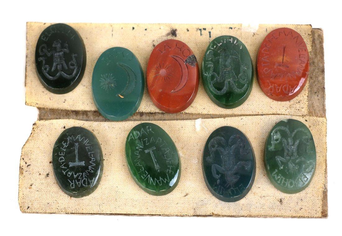 25 Assorted Kabbala Inscribed Stones - 3