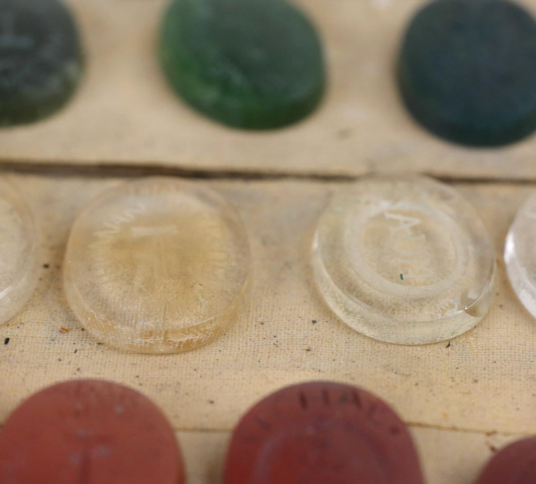 25 Assorted Kabbala Inscribed Stones - 5