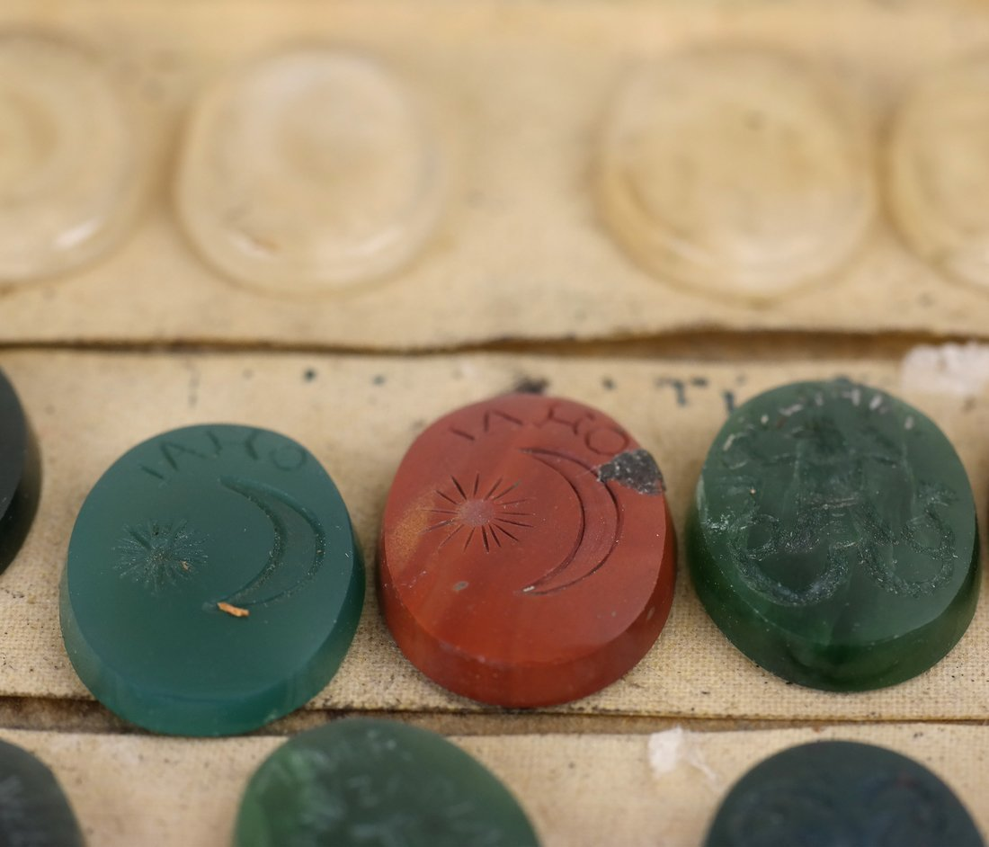25 Assorted Kabbala Inscribed Stones - 6