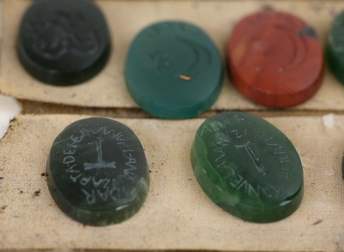 25 Assorted Kabbala Inscribed Stones - 8