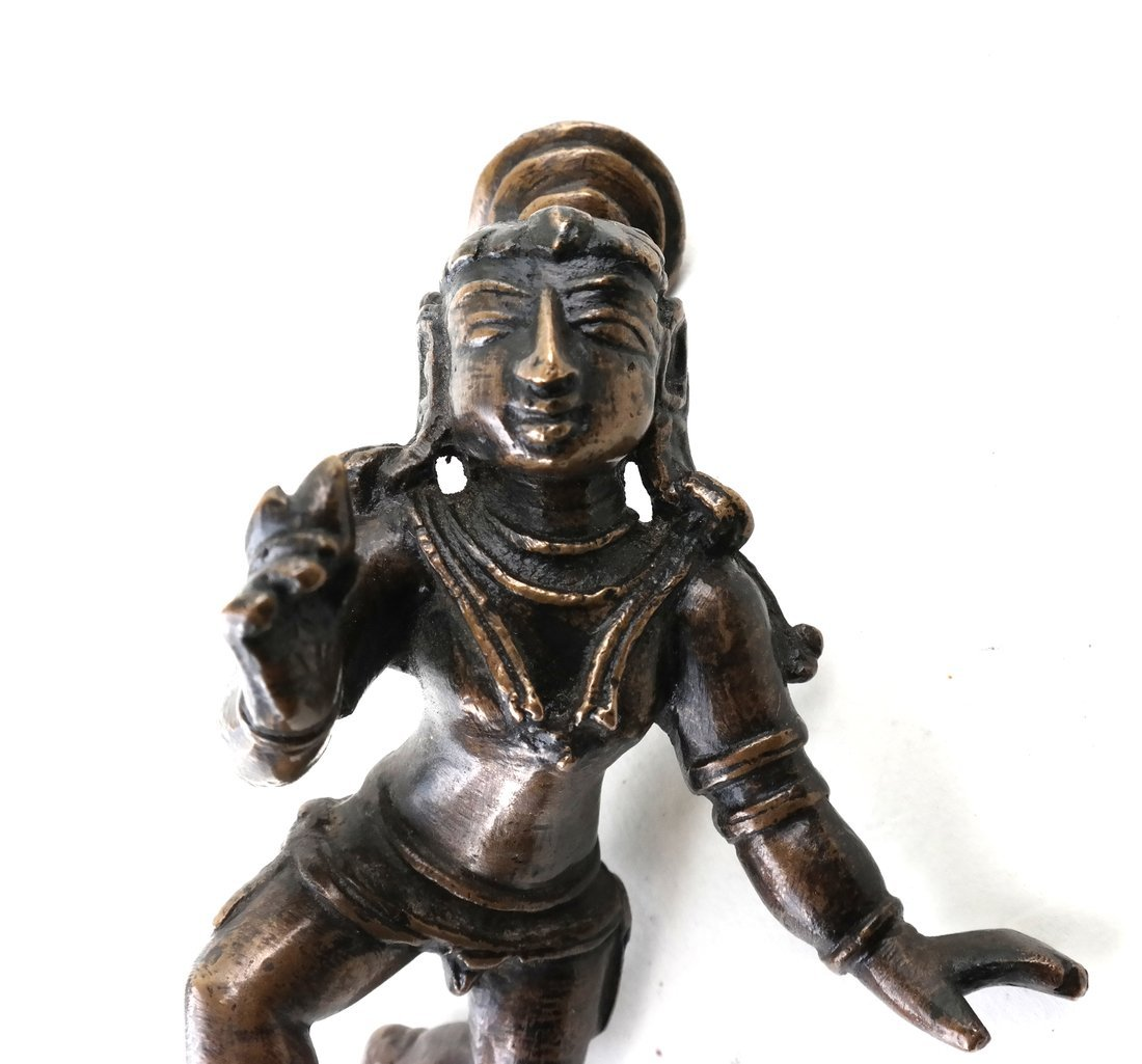 Antique Indian Balakrishna Figure - 4
