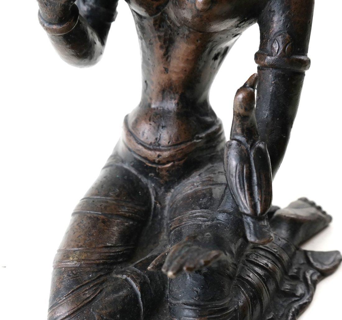 Antique Indian Bronze Figure - 7