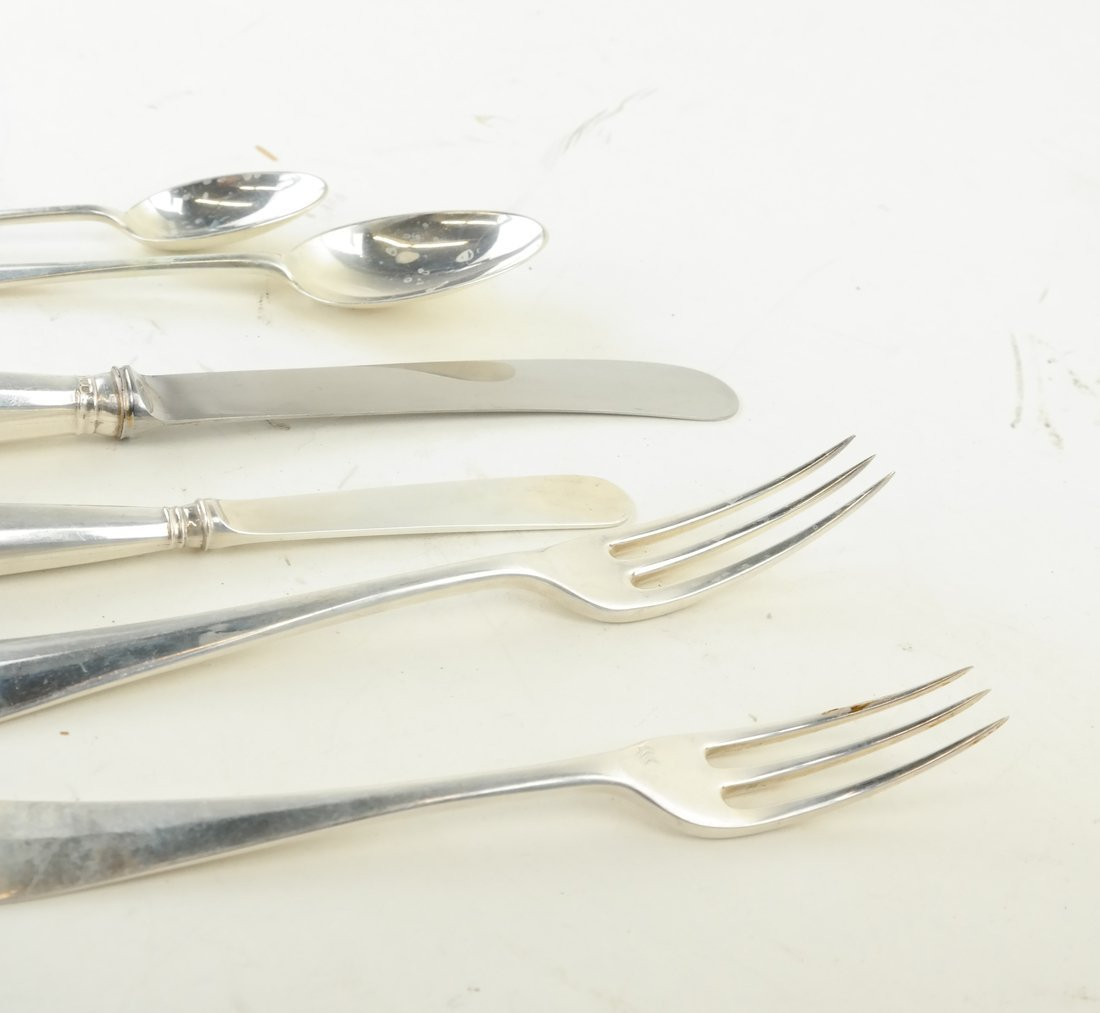 72 Pc. James Robinson Sterling Flatware - 3