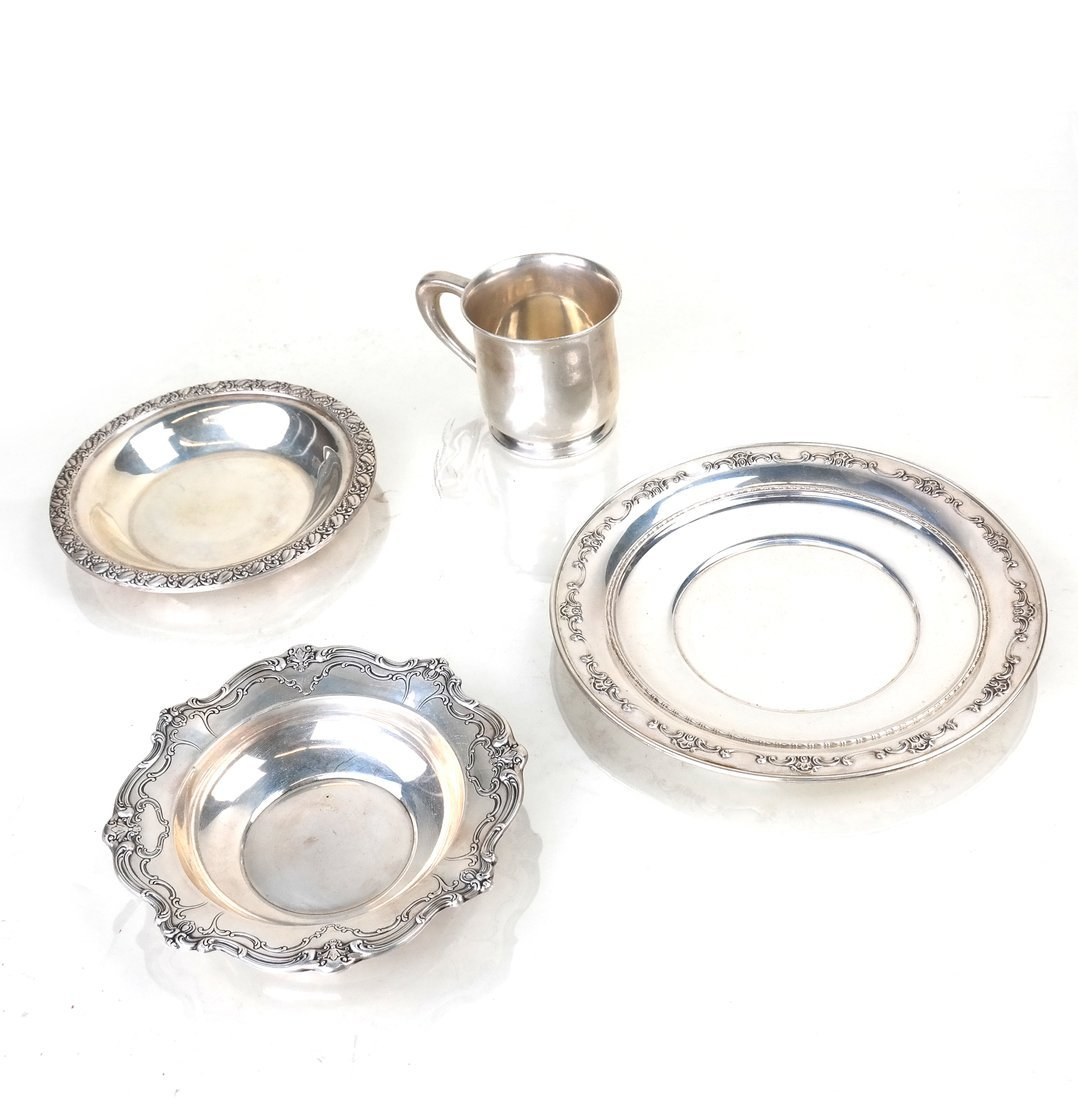 Four American Sterling Table Articles