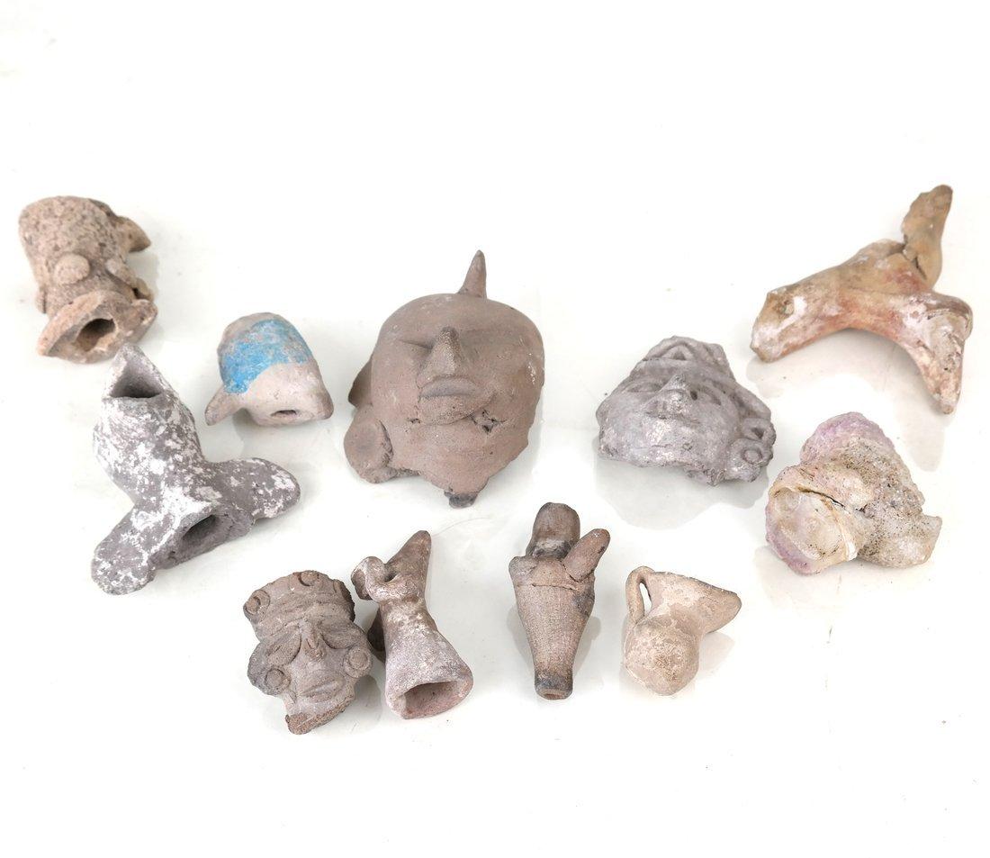 Ten Antique Terracotta Objects