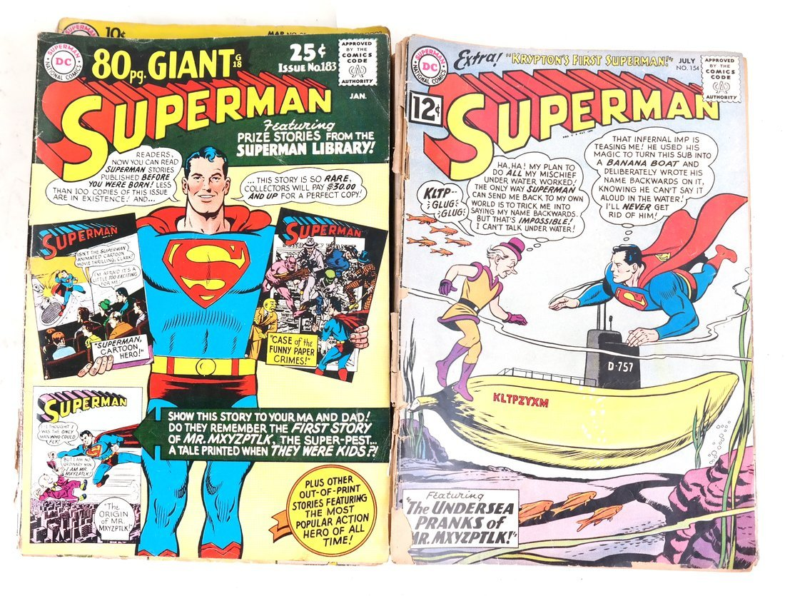 1950's & 60's Superman Comic Books + - 3