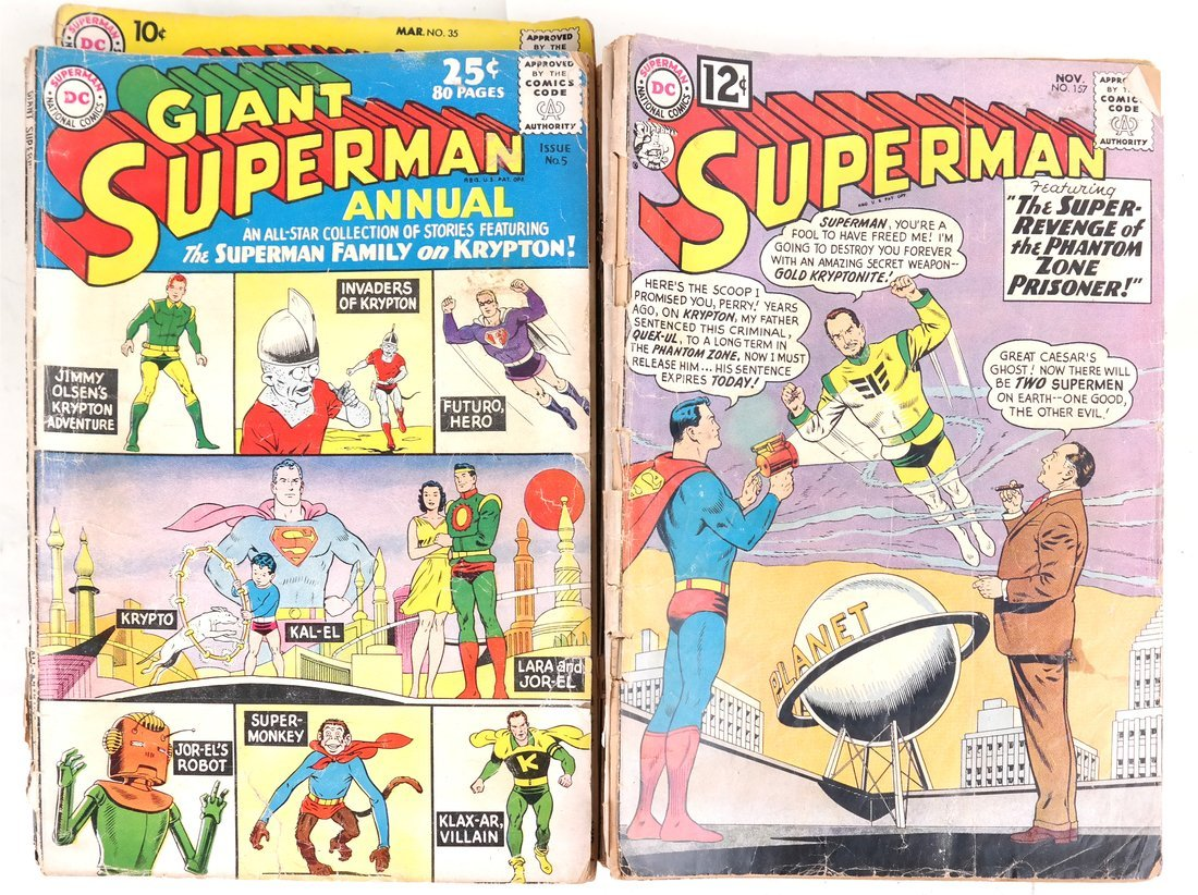 1950's & 60's Superman Comic Books + - 4