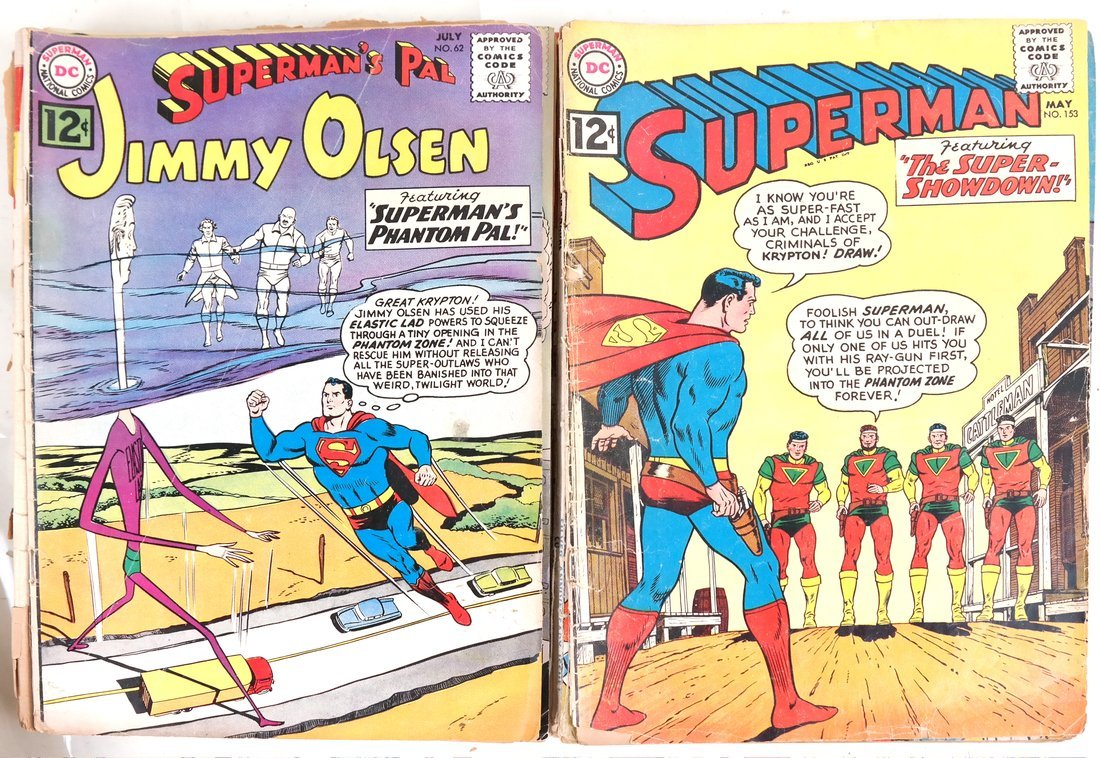 1950's & 60's Superman Comic Books + - 6