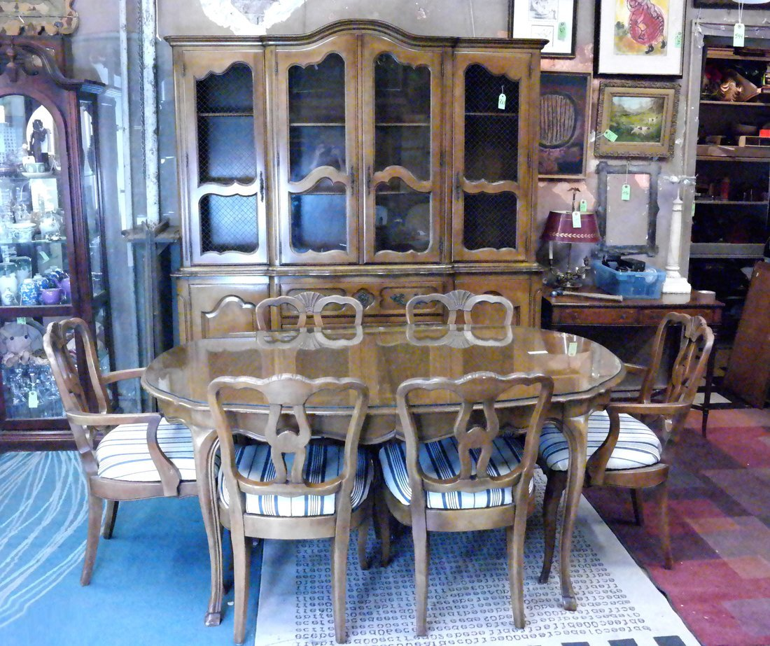 Nine Piece Provincial Dining Set - 2