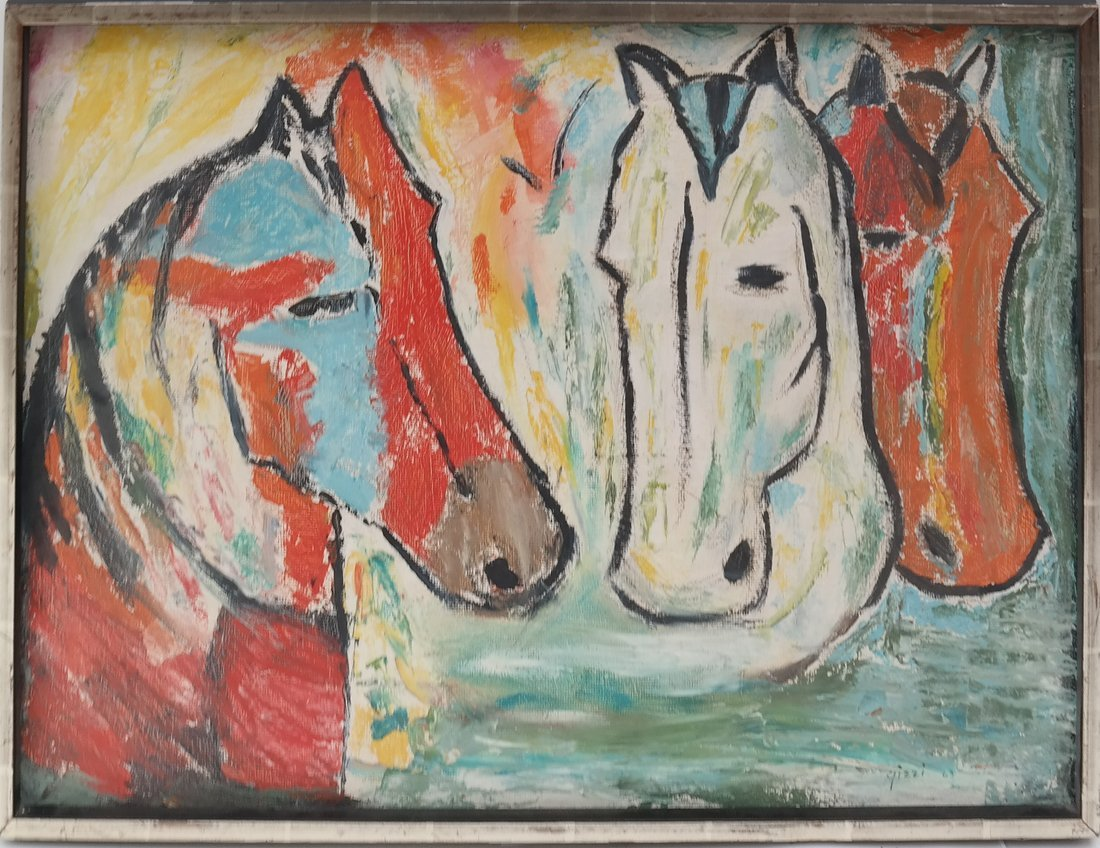 Gizzi, Two Works: Horses & Abstract - 2
