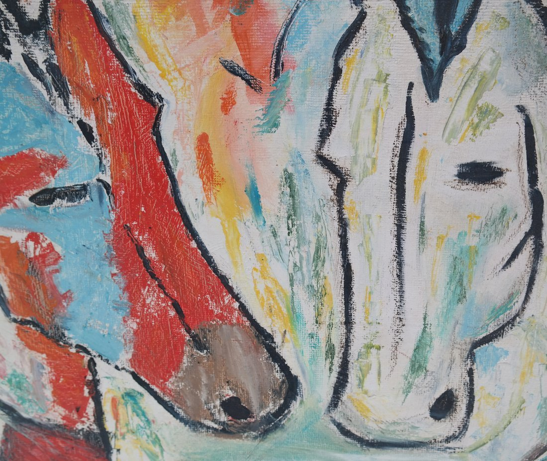 Gizzi, Two Works: Horses & Abstract - 4