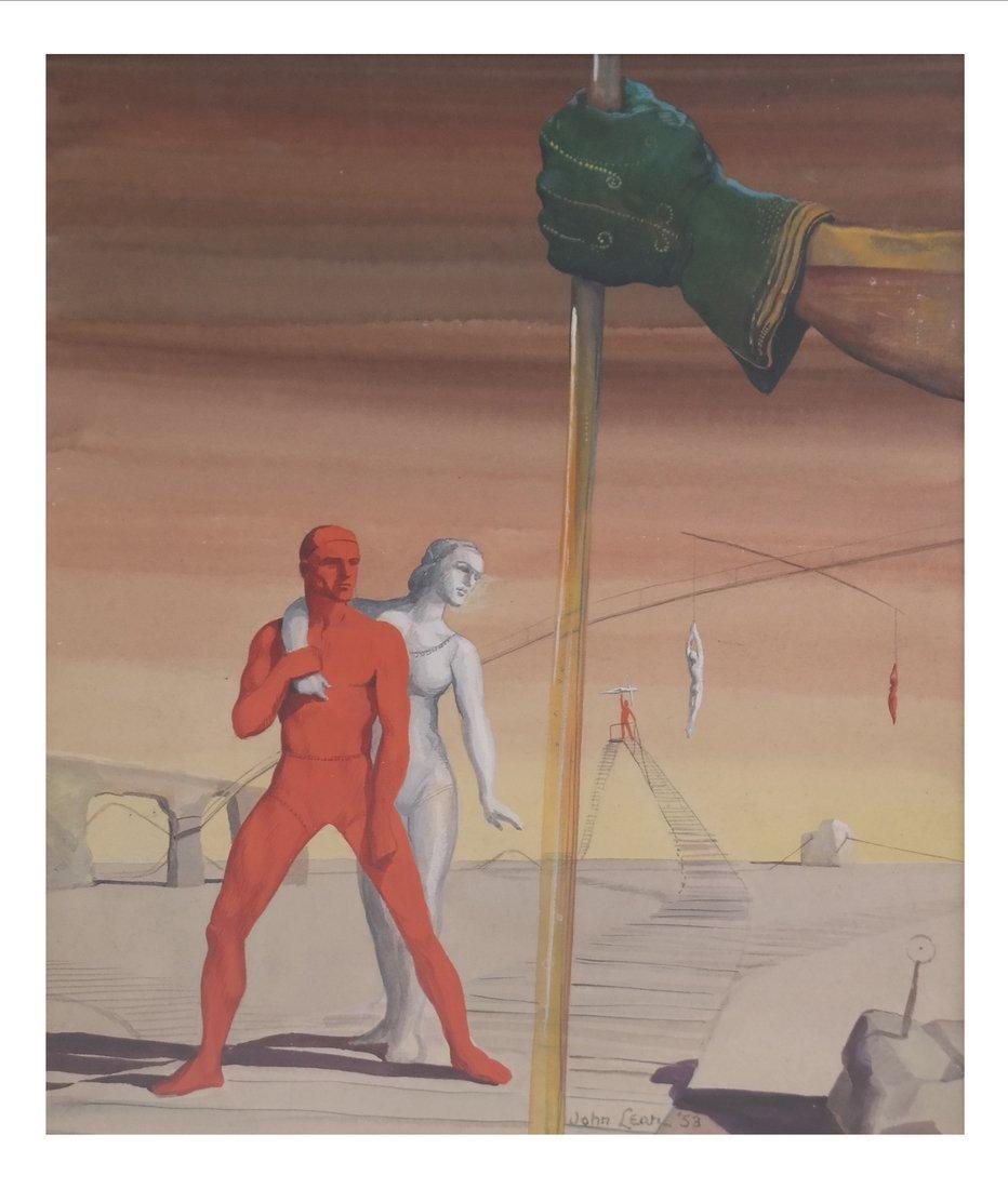 John Lear, Surrealist Figural Scene