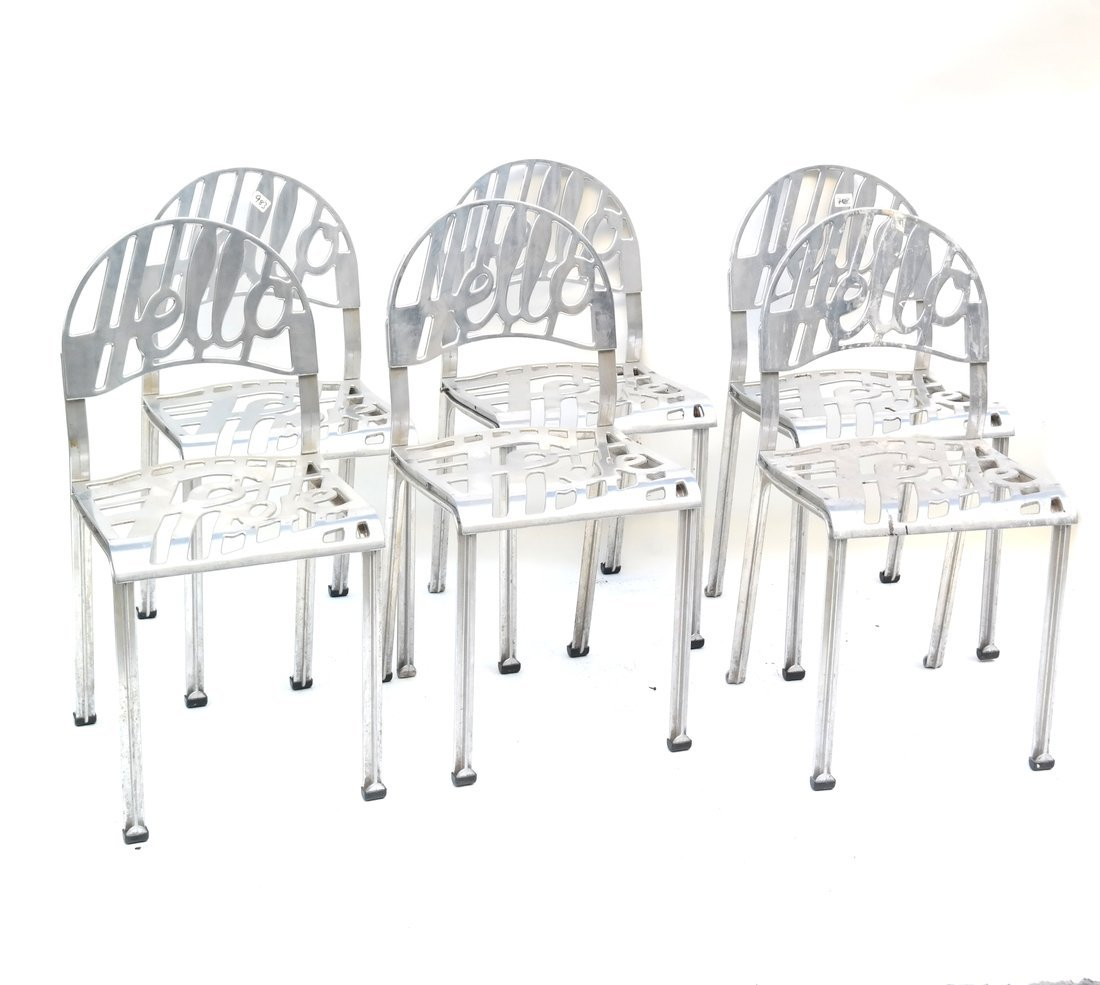 """Set of Six """"Hello There"""" Chairs"""
