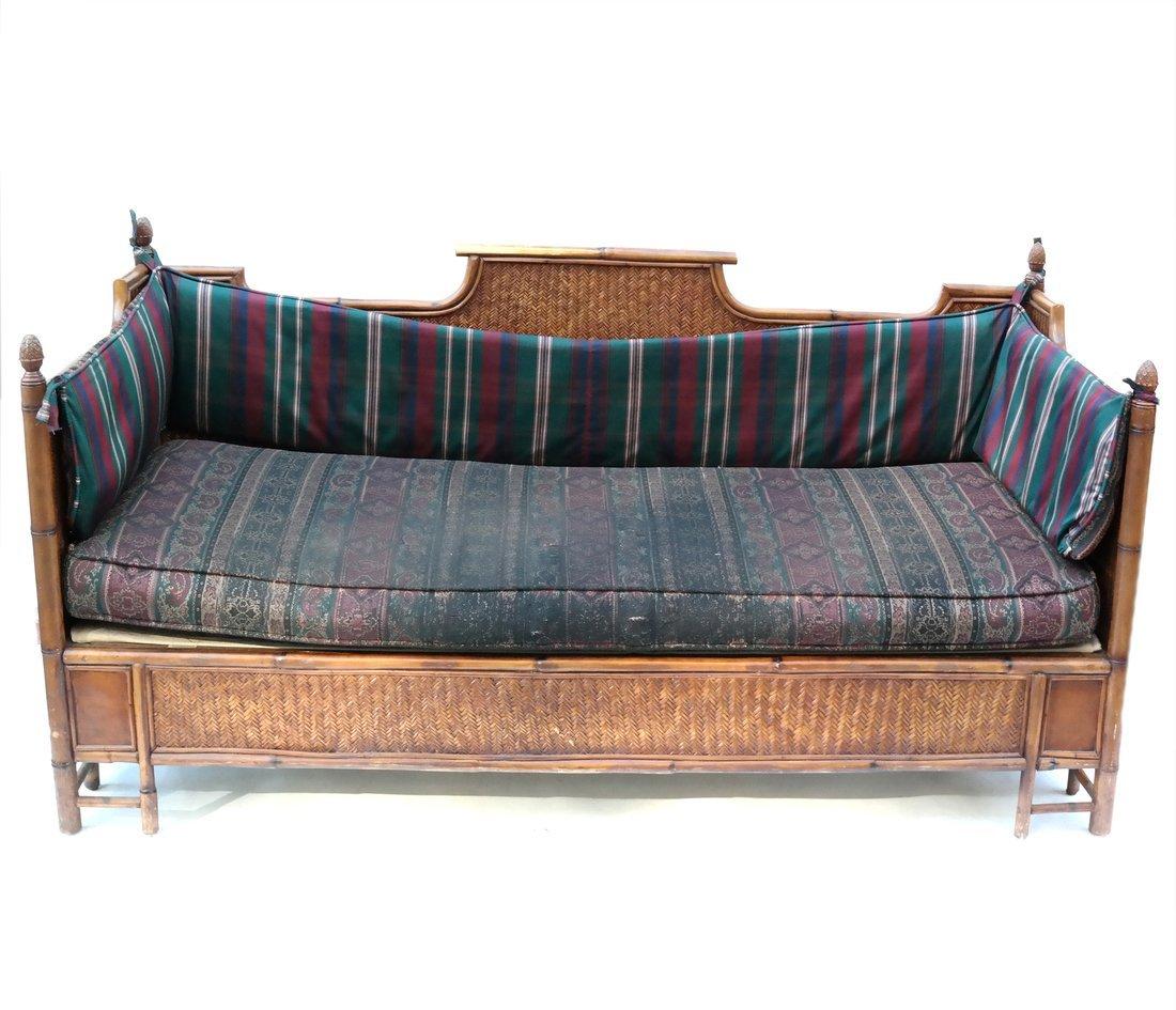 Faux Bamboo Sofa