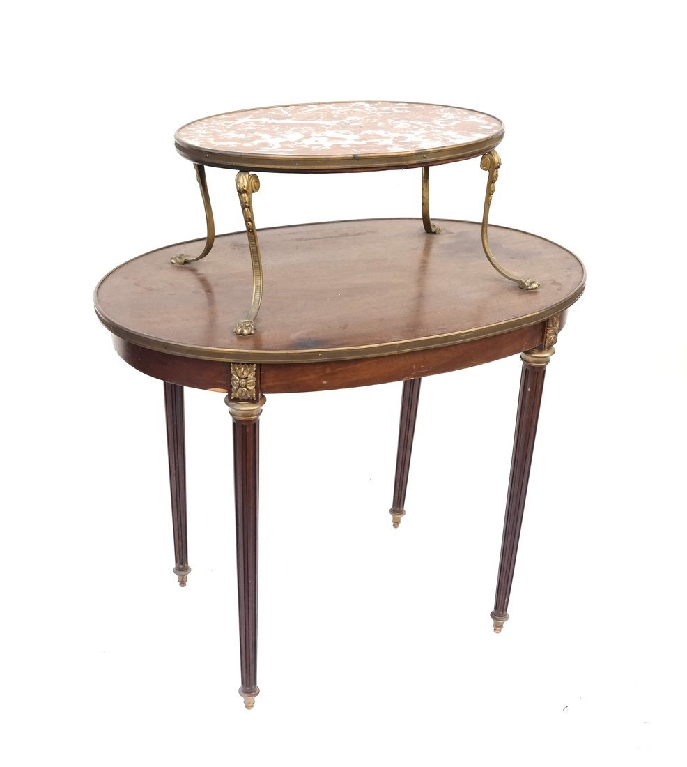 19th Century French Oval Two-Tier Table