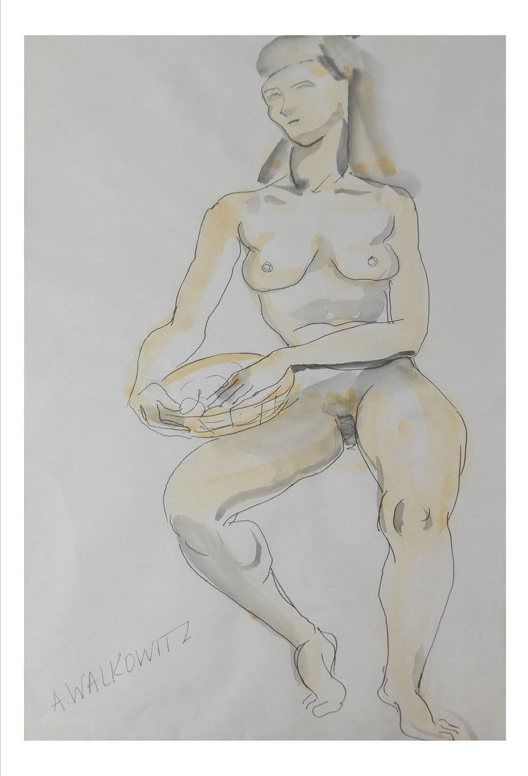 A. Walkowitz, Female Nude