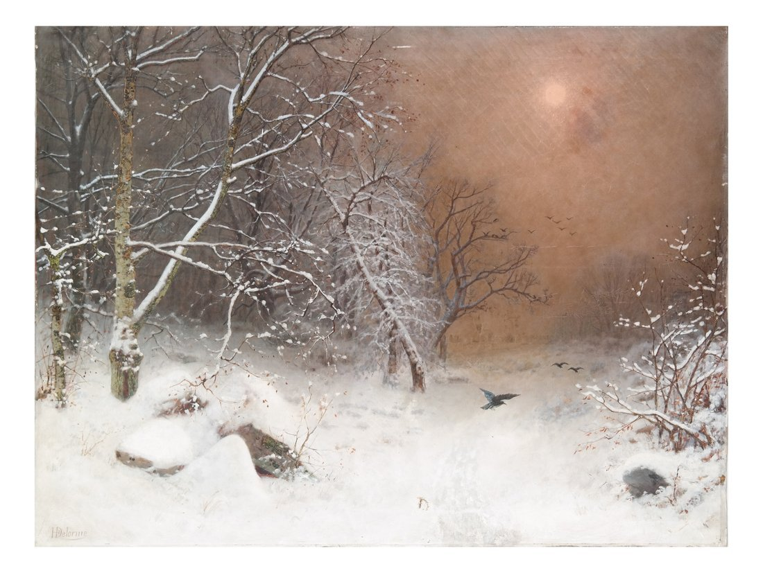 Hubert Delorme, Winter Scene