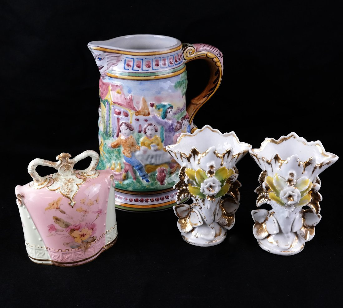 Four Various Porcelain Objects