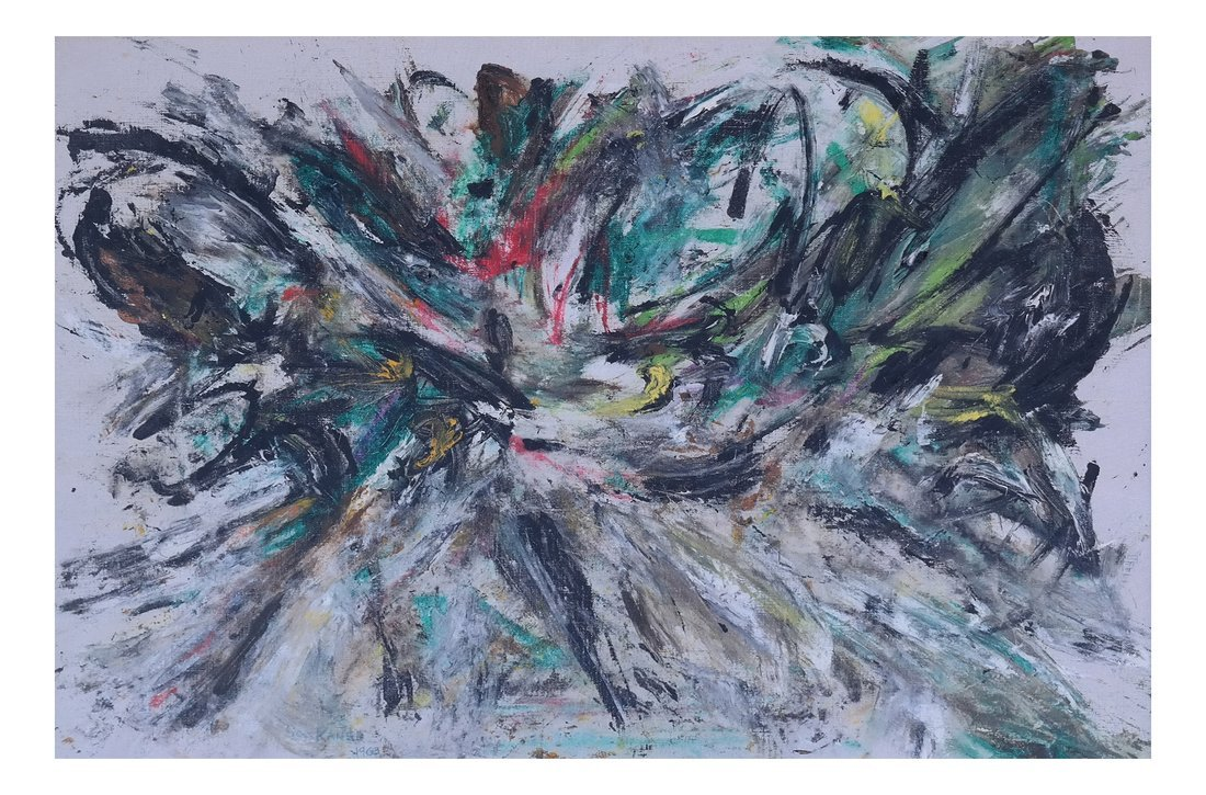 Sam Kaner, Abstract, Oil on Canvas