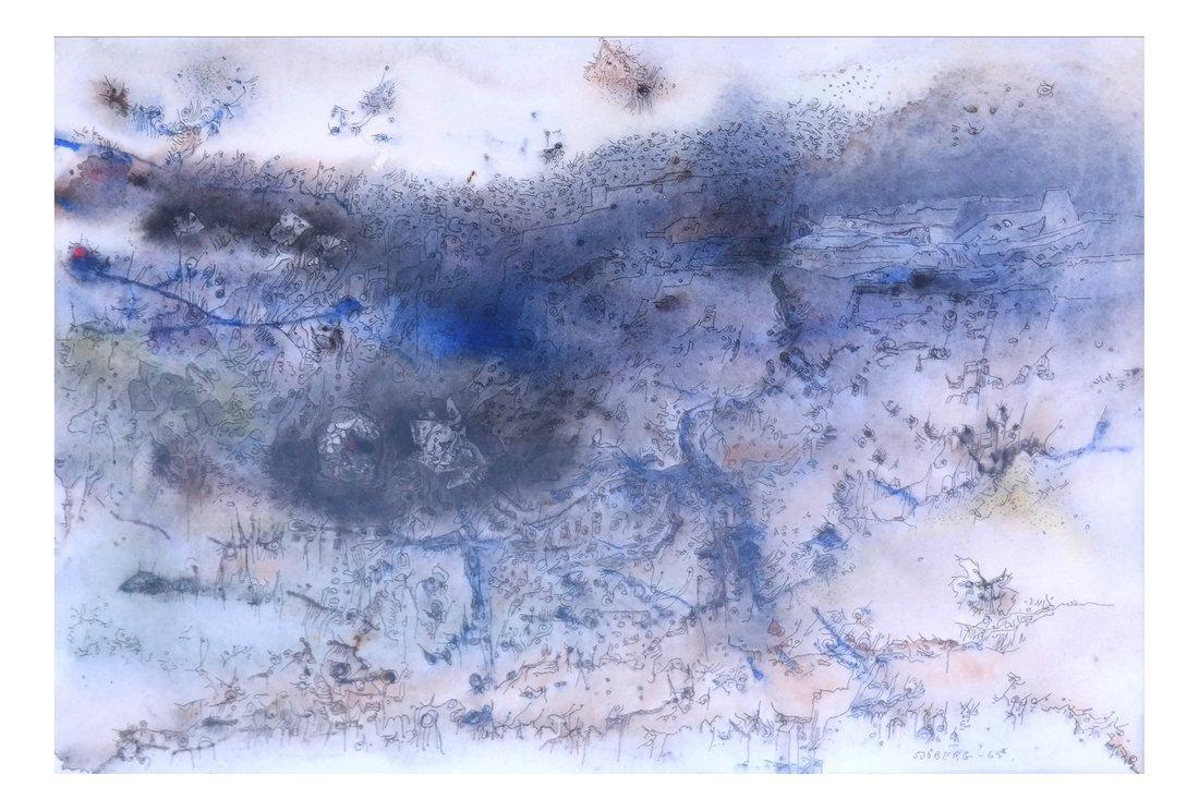 Bertil Sjoberg, Abstract Mixed Media