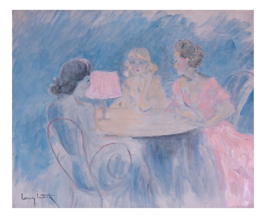 Copy After Louis Icart, L'Heurebleue,