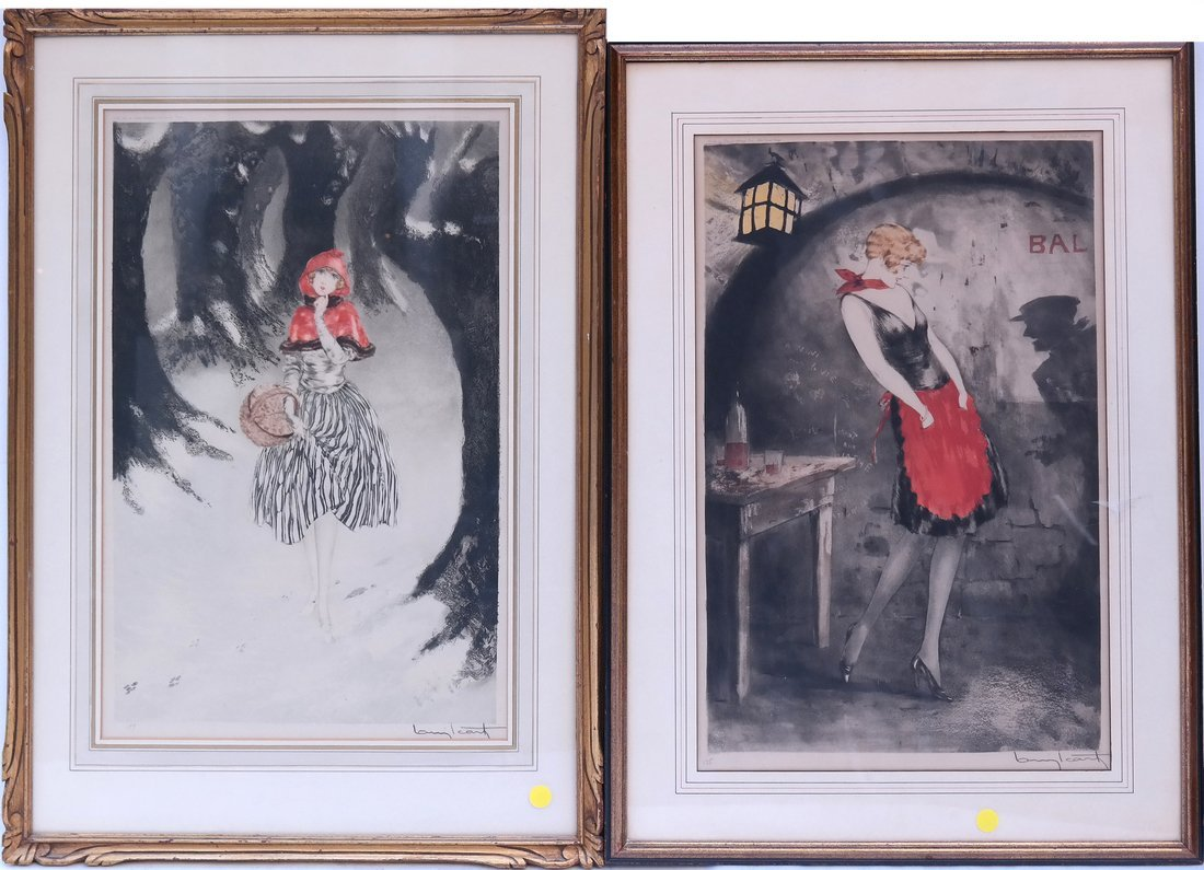 Two Louis Icart Etchings