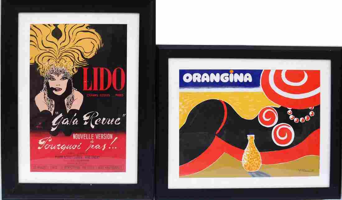 Two Repro. French Advertising Prints
