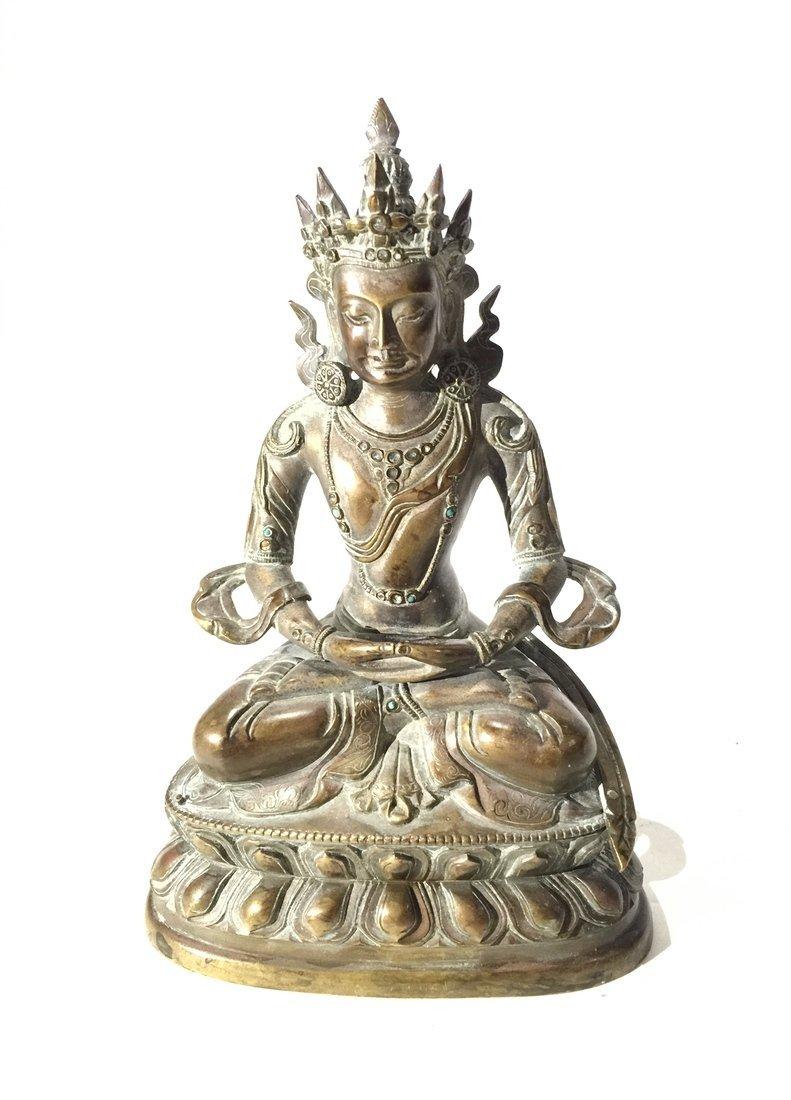 Chinese/Tibetan Bronze Buddha